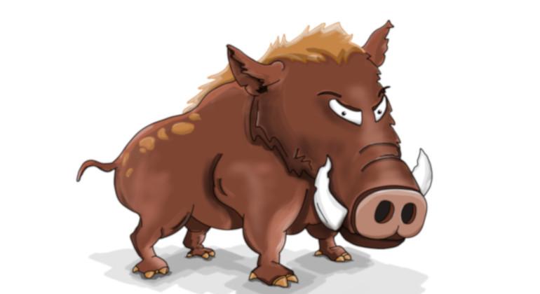 Wildschweinessen