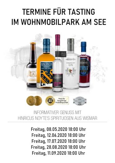 Wir laden Sie zu einem geselligen Whiskey Tasting ein - Hinricus Noytes Spirituosen GmbH